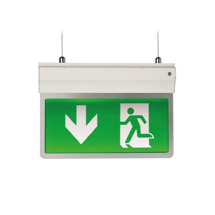 Ansell AE3LED/3M/W Eagle LED 2.5W Exit Sign Light 2.5W, White  2.5W LED Finish: White Indoor Use Only Warranty: 3 Years Colour Temp: 6500K Voltage: 240V IP Rating: IP20 Available in Self-test or Standard mode Supplied with Arrow Down legend Modern slim 3-In-1 LED Exit Sign,. One fitting that enables choice of three different mounting options suspension recessed or side arm wall mounting. Viewing distance 25 Metres. Supplied c/w Integral Driver and Legend. #ideas4lighting #clanyrelighting…