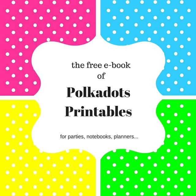 From #FridayFrivolity - a free e-book of polkadots printables!  Party invitations, labels, more! via Keeping It Real