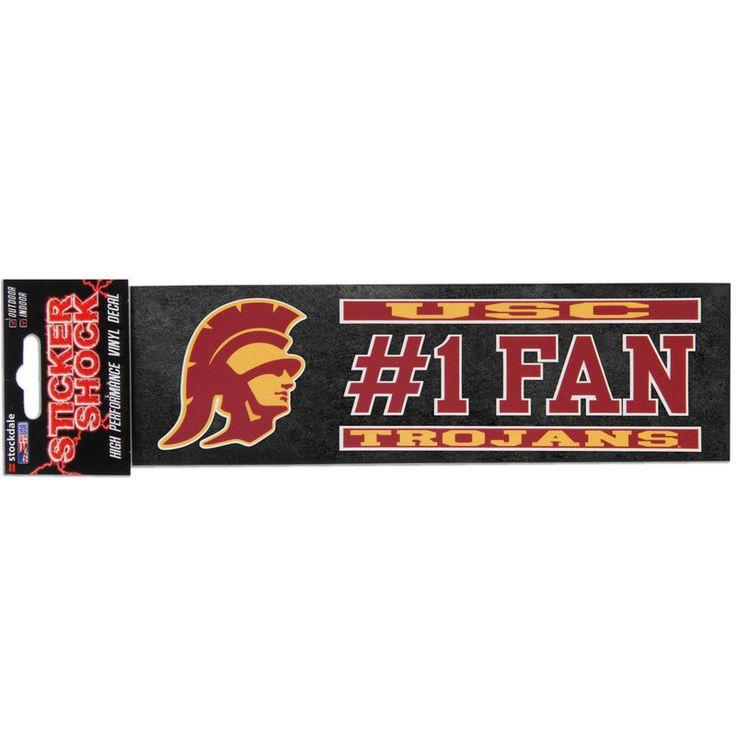 """USC Trojans 3"""" x 10"""" #1 Fan Die Cut Decal - Fanatics.com"""