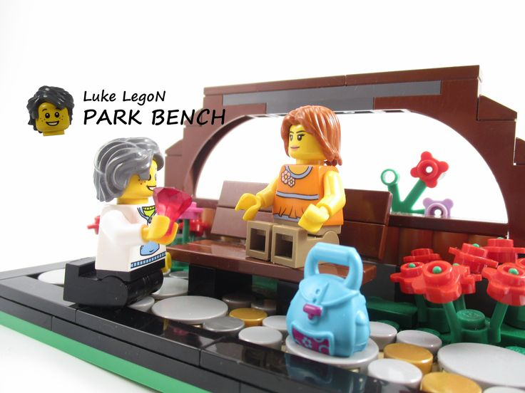 LEGO - park bench #LEGO #bench