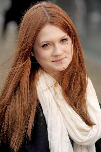 redhead - Bonnie Wright, actress