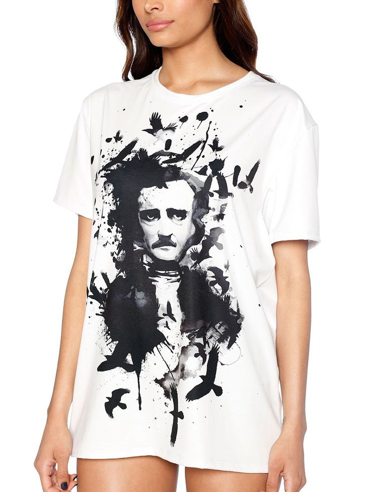 Edgar Allan Poe LA Tee - LIMITED (US ONLY $50USD) by Black Milk Clothing