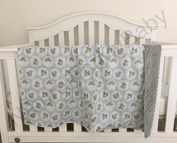 Bambi Boy Bedding Blanket Nursery Cotton Minky 100 Baby Crib Toddler Lap Infant