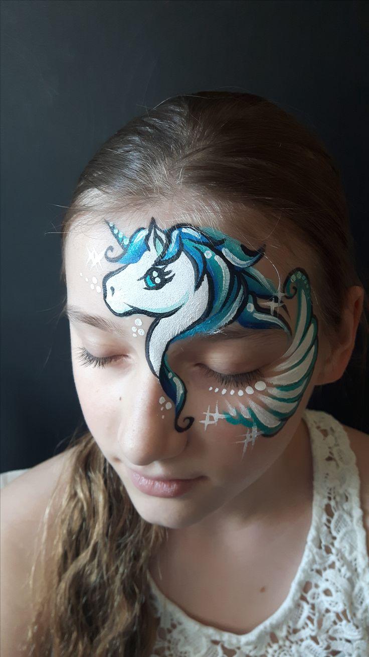 Unicorn, face paint, Katarzyna Zielińska
