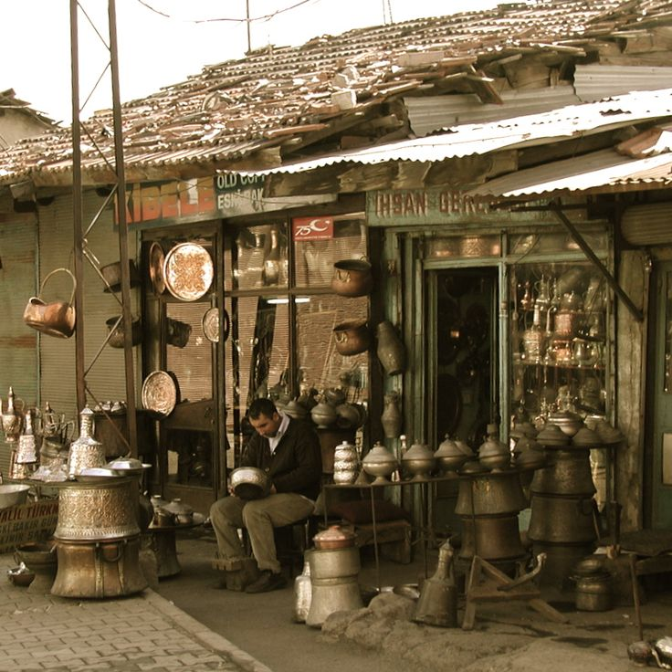 Copper wares, Ankara Turkey