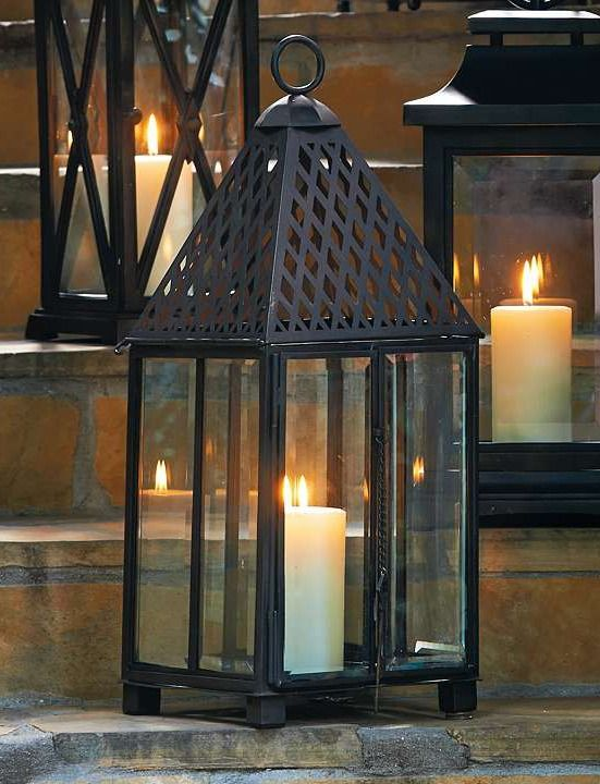 Make a bold statement while shining a warm glow on your outdoor space with the Trident Outdoor Lantern.