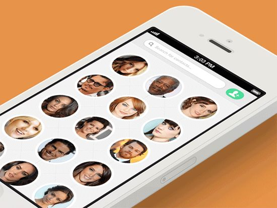 Mobile Contacts Concept by Justin Nurse. 25 Stunning #Mobile #UI Examples (Animated GIF)