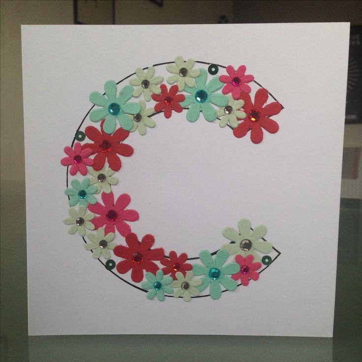 Handmade initial C card