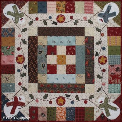 Love the cute snowmen on this mini quilt created by Ellen Remijnse of Ellie's Quiltplace ! She used fabric and batting scraps that she had on hand to construct the quilt, and she did her piecing and quilting with Aurifil thread.   To see more, please visit: http://elliesquiltplace.blogspot.be/2016/11/mini-quilt-club-all-things-winter.html""