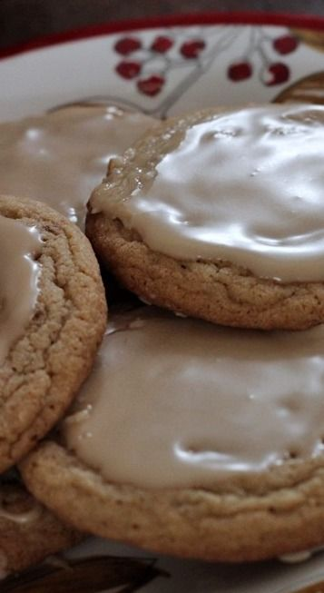 Amish Brown Sugar Cookies w/ Maple Glaze