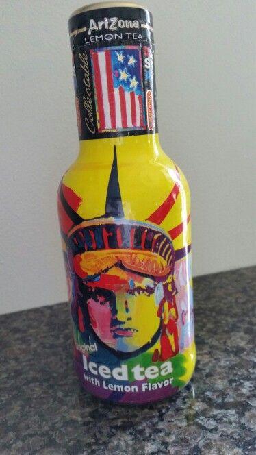 Love the grafics on this old bottle of Arizona Tea.....