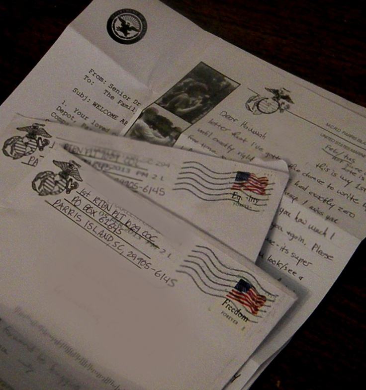 Can Marines In Boot Camp Write Letters