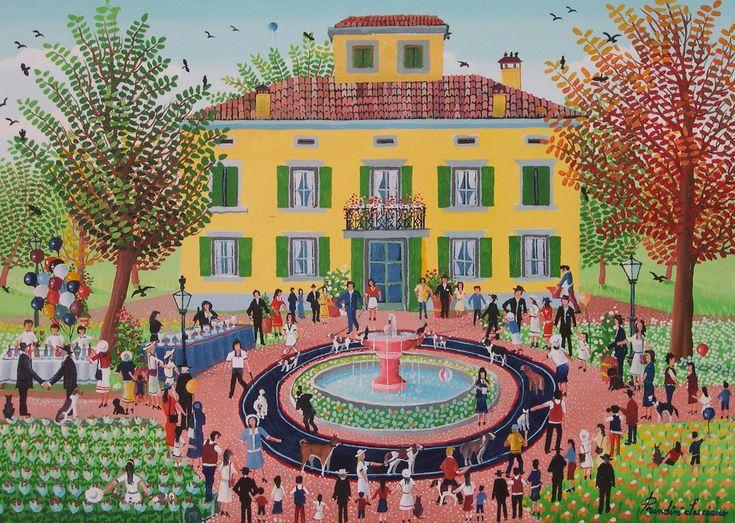 Luciano Prandini, The Dog Show, 2004, Oil on canvas, 48X68cm