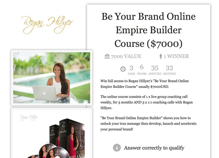 WIN: Be Your Brand Online Empire Builder Course ($7000)