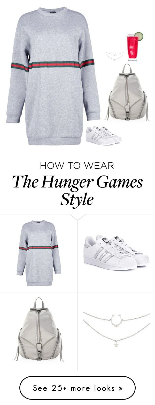 """#6764"" by azaliyan on Polyvore featuring Boohoo, adidas Originals and Rebecca Minkoff"