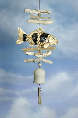 57 best images about cat wind chimes on pinterest wind for Colored porcelain koi fish wind chime