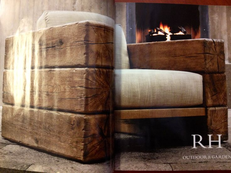 Chair made with railroad ties | Creative Interior Design ...