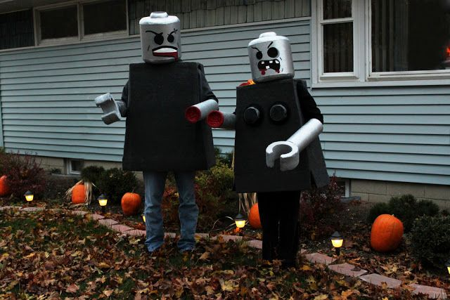 Black and White Obsession: Lego Man Costume