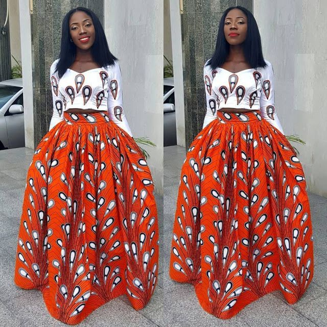 Ankara Maxi Skirt Styles For Ladies - DeZango Fashion Zone