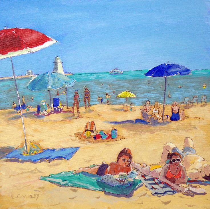 """Port Dover Beach Acrylic 12""""x12"""""""