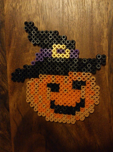 Pumpkin Halloween hama perler beads