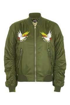 Embroidered Ma1 Bomber Jacket