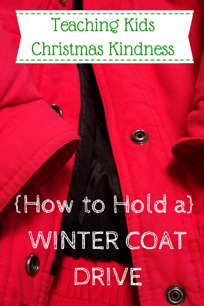 How to Hold a Winter Coat Drive for Christmas and show your children what it means to love someone else in need