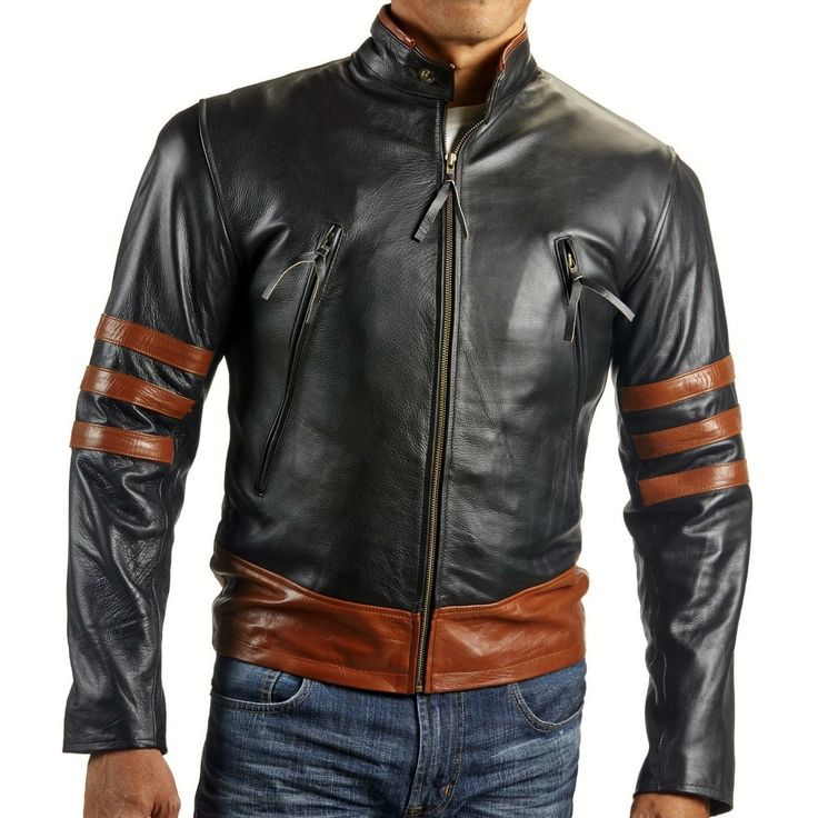 Men's X-Men Wolverine Motorcycle Leather Jacket
