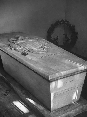 george washington tomb mount vernon | George Washington's Tomb at Mount Vernon, Marble Sarcophagus Bearing ...