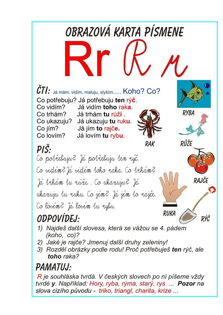 Inkluzivní škola - písmeno R