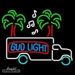 Bud Light Beer Truck Neon Sign