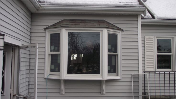 Replacement bay window after photo renovations for Bay window replacement ideas