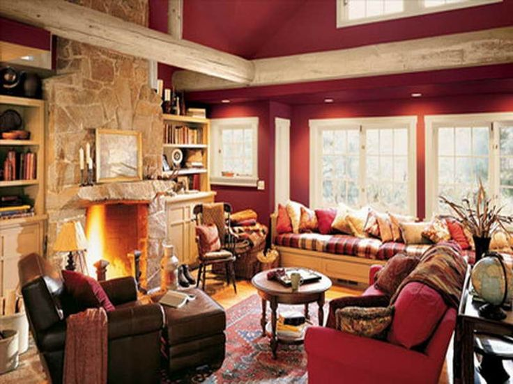 Rustic Warmth Living Room Decorating Ideas Part 73