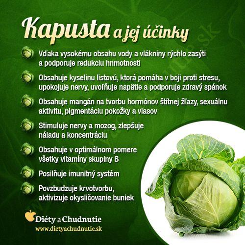 Kapusta a jej účinky na #chudnutie a #zdravie človeka http://www.dietyachudnutie.sk/infografiky/kapusta-a-jej-ucinky-na-chudnutie-a-zdravie-cloveka/