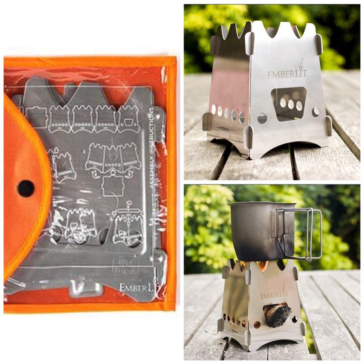 EmberLit Camp Stove EmberLit's Original Camp Stove is a great piece of equipment designed for anyone spending time outdoors. This wood burning stove will make cooking easier and your time in nature more enjoyable.