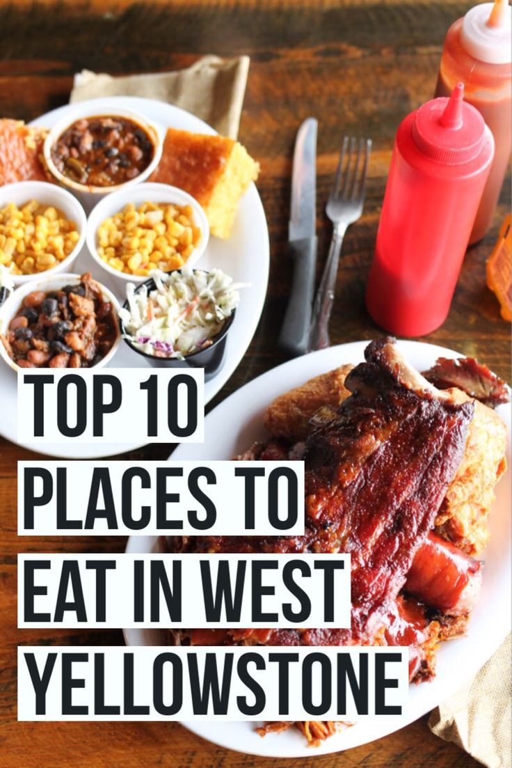 Top 10 Places to Eat In (And Near) West Yellowstone, Montana! Headed to Yellowstone this summer and coming or going through the west entrance? With over 30 options in the tiny town of West Yellowstone we want to make sure you eat at the right places. Full post at femalefoodie.com!
