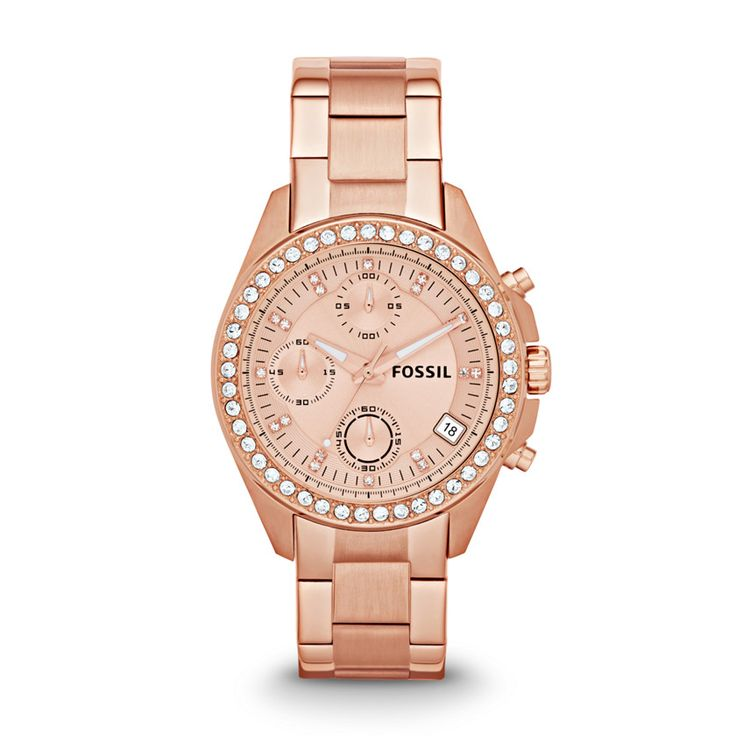 Fossil Decker Chronograph Stainless Steel Watch - Rose