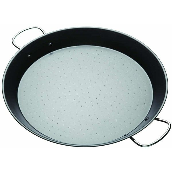 World of Flavours Mediterranean 40cm Paella Pan ($24) ❤ liked on Polyvore featuring home, kitchen & dining, cookware, kitchen craft, kitchen craft cookware and non-stick cookware