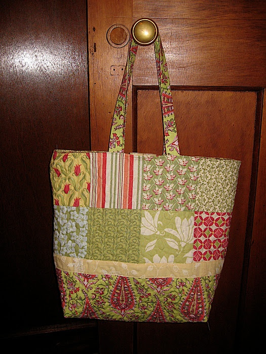 charm pack tote tutorial