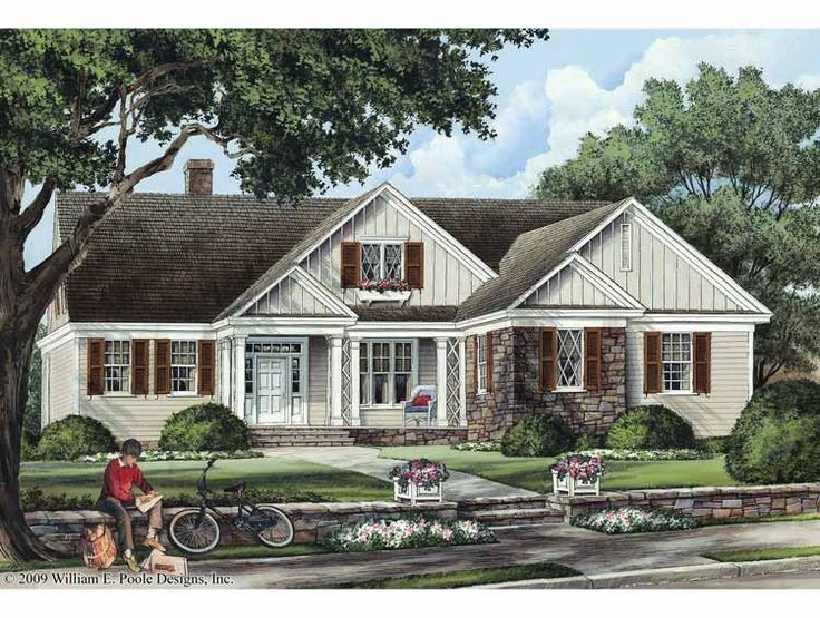 Eplans Cottage House Plan - Glendale - 1990 Square Feet and 3 Bedrooms(s) from Eplans - House Plan Code HWEPL68478
