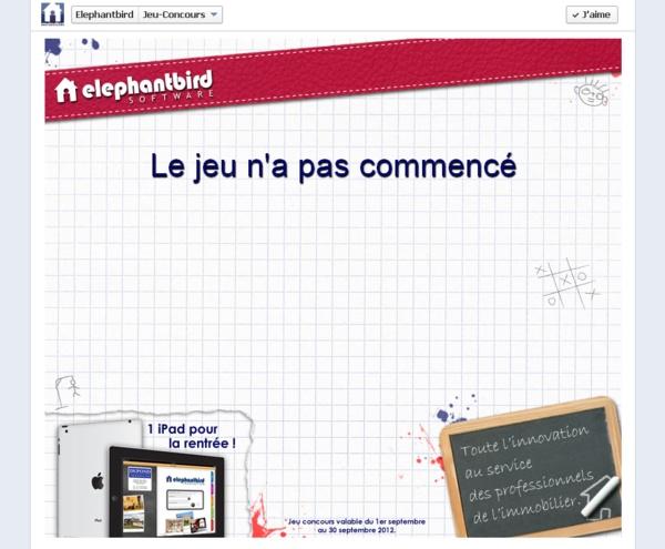 """Rendez-vous le 1er Septembre 2012 pour un concours Facebook spécial """"Rentrée"""" organisé par ELEPHANTBIRD !  Agents immobiliers, tentez de gagner un iPad !  Nous vous attendons nombreux !"""