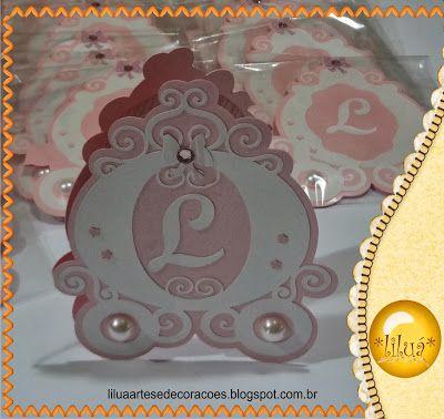 Liluá Artes: Convites Carruagem de Princesa