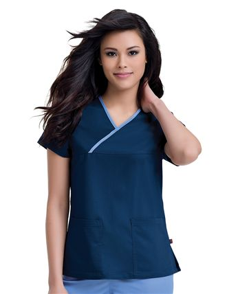 """Mandi"" Crossover Top  #UrbaneScrubs @Urbane Scrubs #nurses #nursing #studentnurses #fashion #RN #LPN #Dentist #women #scrubs #clothing #MedicalAssistant #Healthcare #uniforms"