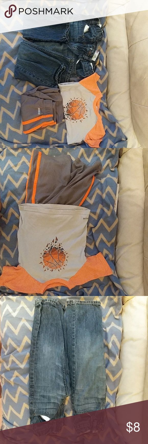 Boys 4t bundle of clothes Orange and grey outfit 4t Levi jeans 4/5 years old with adjustable waist bands  All have been worn but in good condition. Levi's Matching Sets