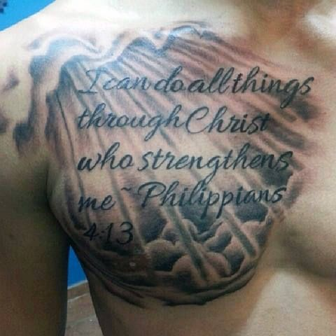 40 Philippians 4:13 Tattoo Designs For Men – Bible Verse Ink Ideas