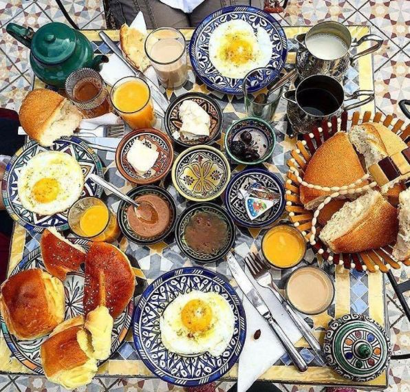 Moroccan breakfasts include eggs, breads, and tons of spreads. | Here's What Breakfast Looks Like In 28 Countries Around The World