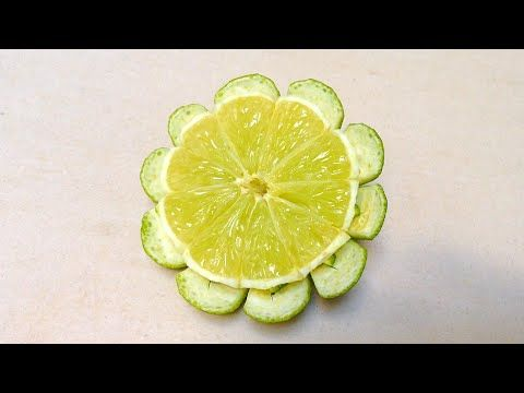 Simple And Easy Lime Button Flower - Beginners 65 By Mutita Art Of Fruit And Vegetable Carving Video - YouTube