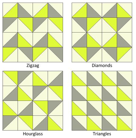 triangle block patterns