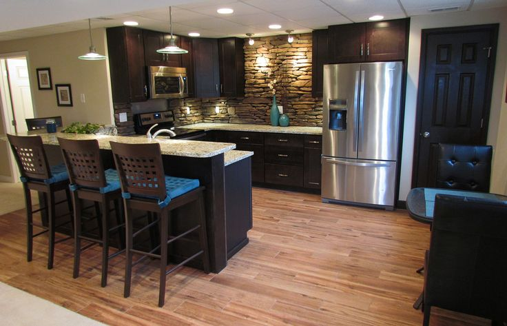 Basement kitchenette bar google search basement for Basement kitchenette with bar