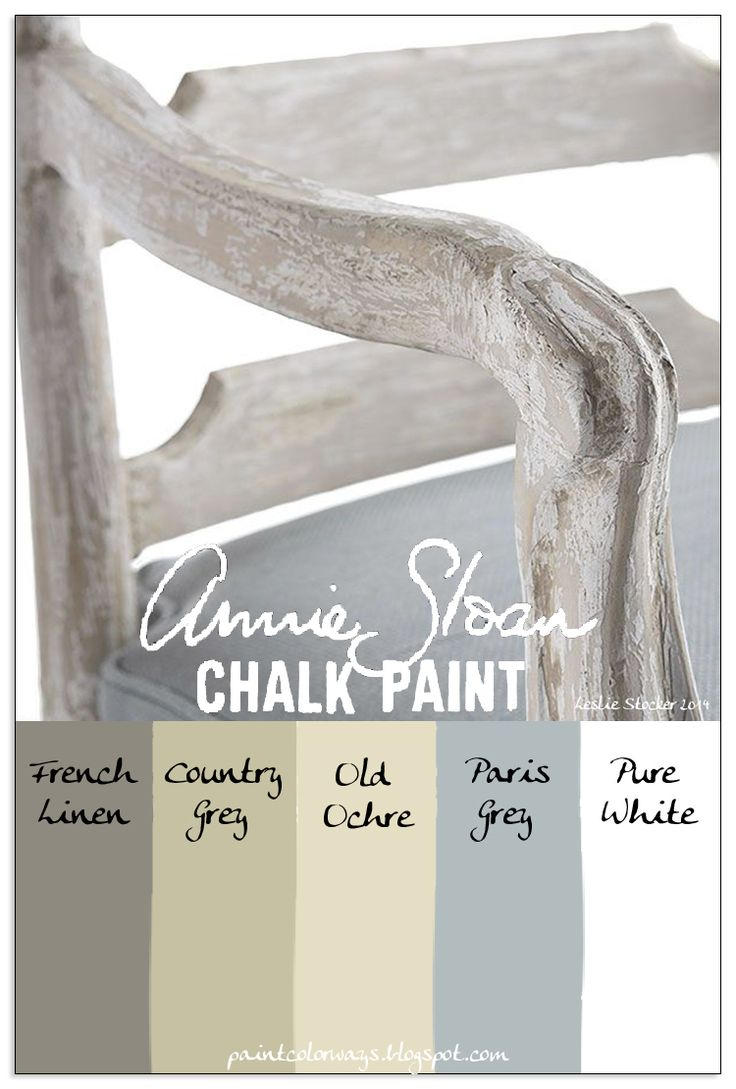 COLORWAYS  Using more than one color of Annie Sloan Chalk Paint creates a white finish that is not just white.